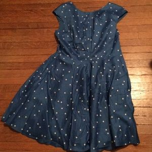 Polka dot spring dress